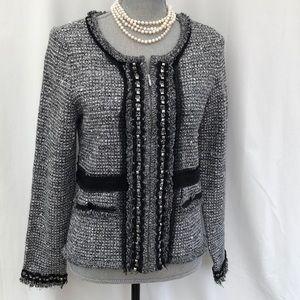 White House Black Market embellished jacket Med